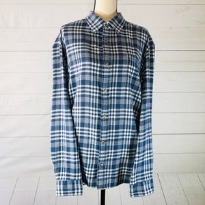 MK Casual Long Sleeve Flannel Shirt Size X Large